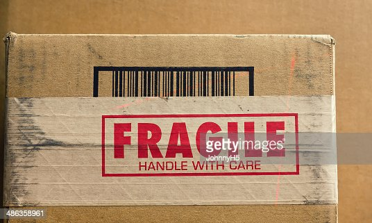 Fragile Handle with Care : Stock Photo