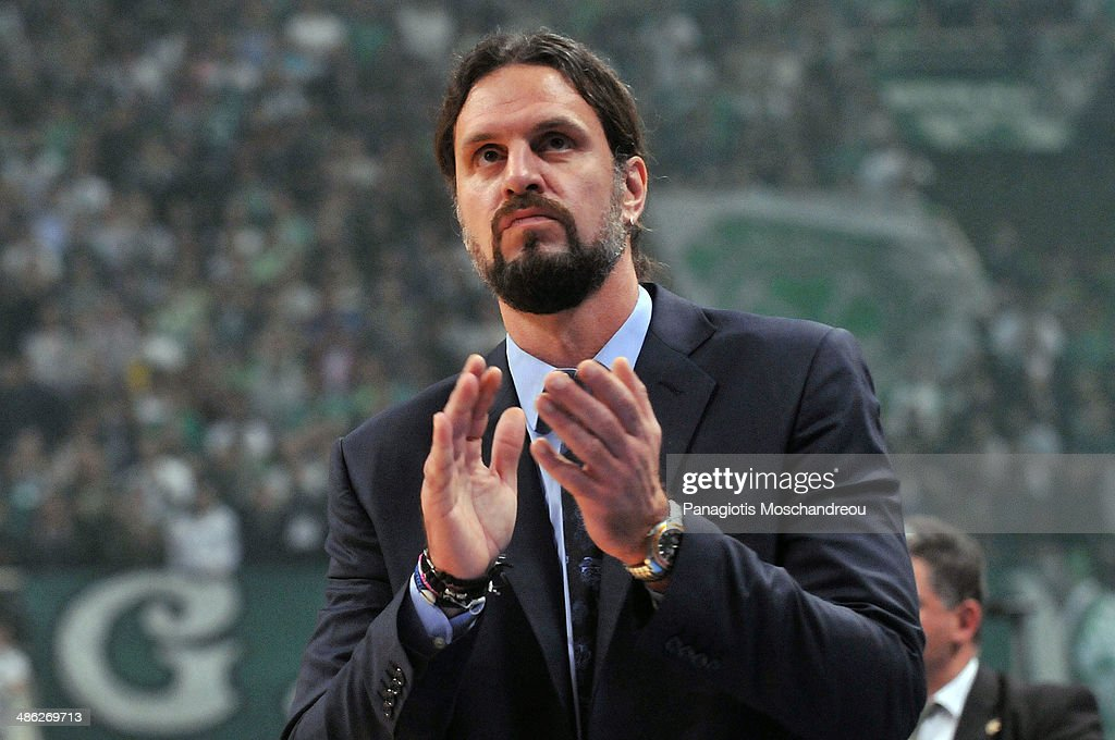 Fragiskos Alvertis, Head Coach of Panathiniakos Athens react during the Turkish Airlines Euroleague Basketball Play Off Game 4 between Panathinaikos Athens v CSKA Moscow at Olimpic Sports Center on April 23, 2014 in Athens, Greece.