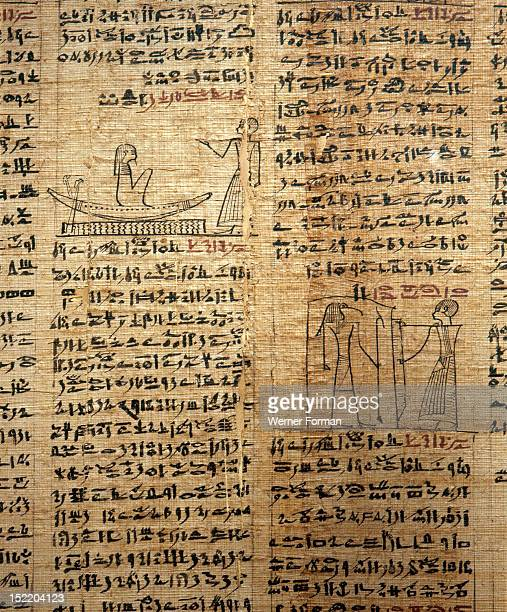 A fragment of a funerary papyrus of Kahapa with text from the Book of the Dead in hieratic script Egypt Ancient Egyptian Late Period