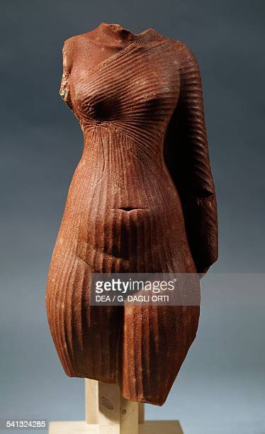Fragment of a statue of the Amarna Princess in pink quartzite height 29 cm Egyptian civilisation New Kingdom 1360 BC Paris Musée Du Louvre