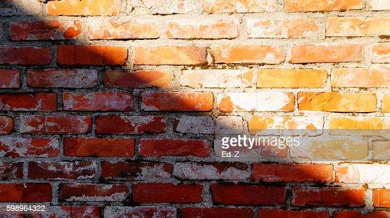 fragment di muro di mattoni : Foto stock