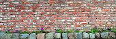 fragment of brick wall