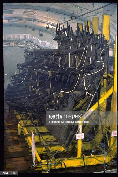 Fragments of King Henry VIII's warship the Mary Rose