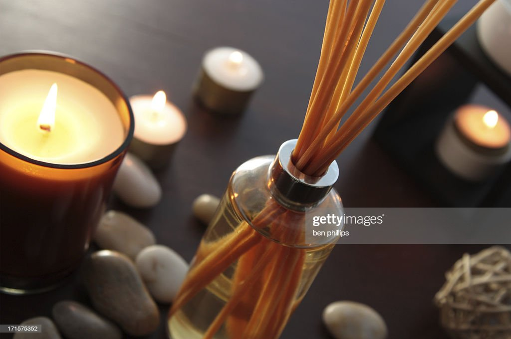 fragrance reed diffuser : Stock Photo