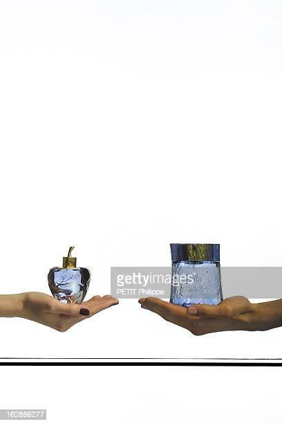 Fragrances Duo Flacon de parfum EAU DE PARFUM pour femme en forme de pomme et flacon de parfum AU MASCULIN pour homme de Lolita LEMPICKA