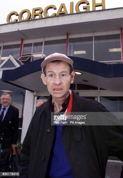 A frail looking former world snooker champion Alex Higgins arrives at Cork Airport for the funeral of long time friend Oliver Reed Mr Reed funeral...