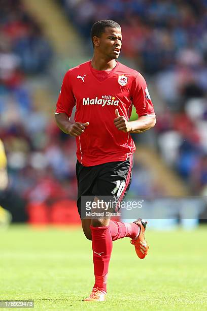 Fraizer Campbell of Cardiff City during the Barclays Premier League match between Cardiff City and Everton at Cardiff City Stadium on August 31 2013...