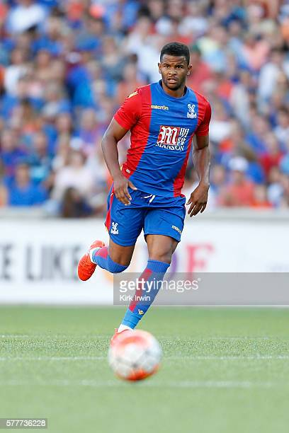 Fraizer Campbell of Crystal Palace FC chases after the ball during the match against FC Cincinnati at Nippert Stadium on July 16 2016 in Cincinnati...