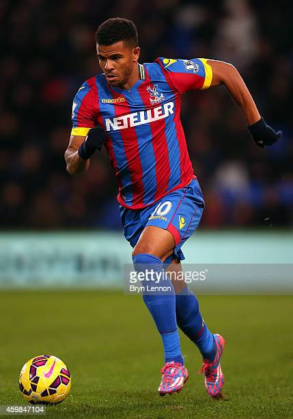 Fraizer Campbell of Crystal Palace in action during the Barclays Premier League match between Crystal Palace and Aston Villa at Selhurst Park on...