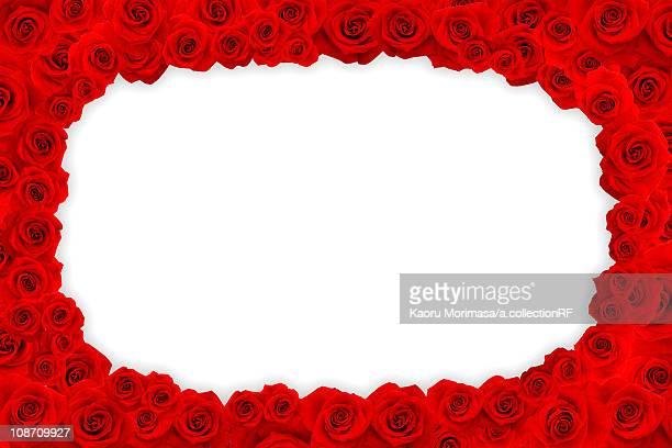 Frame of Red Roses