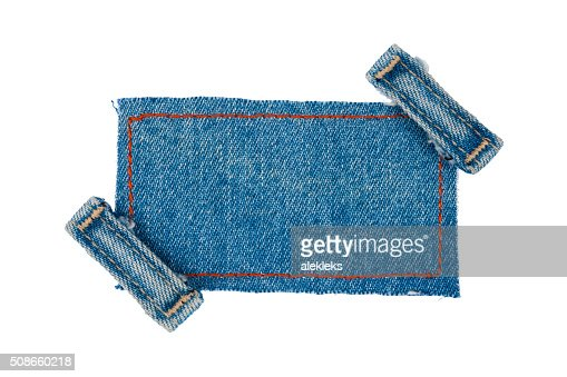 Frame with two straps jeans : Stock Photo