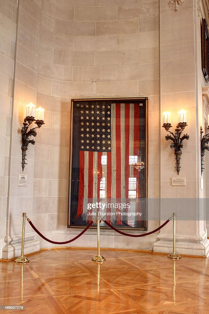 Framed Old American Flag Hanging In Memorial Hall In Bancroft Hall At The  United States Naval Part 88