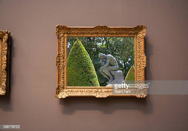 framed photograph of 'thinker'