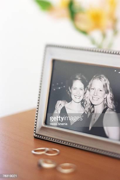 Framed portrait of best friends