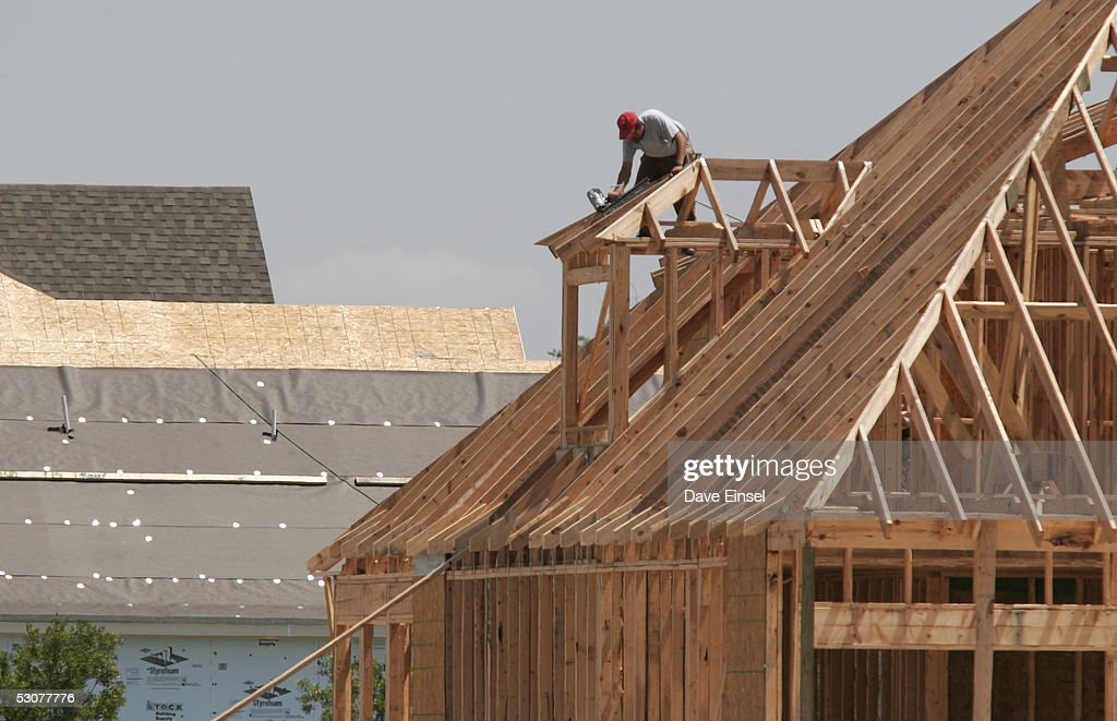 A Framer Works On New Home In The Westover Park Subdivision June 16 2005