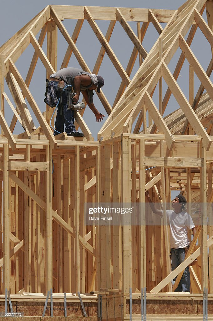 Framers Work On A New Home In The Westover Park Subdivision June 16 2005