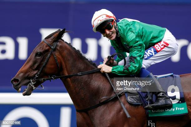 Fran Berry riding Great Hall win The Dubai Duty Free Shergar Cup Challenge at Ascot racecourse on Shergar Cup Day on August 12 2017 in Ascot England