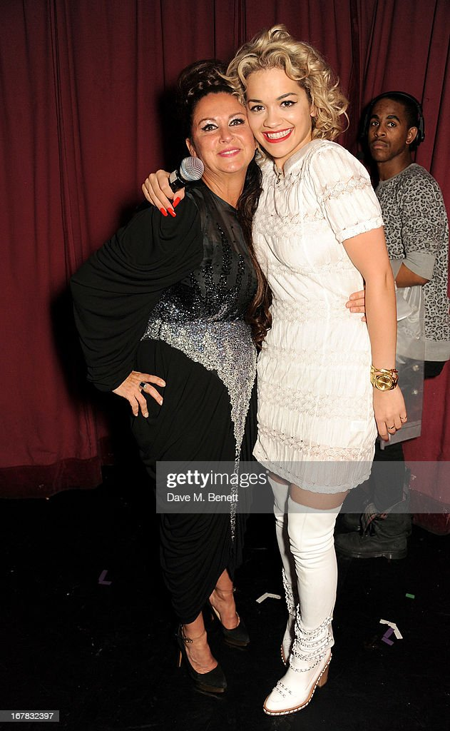 Fran Cutler (L) and Rita Ora attend Fran Cutler's surprise birthday party supported by ABSOLUT Elyx at The Box Soho on April 30, 2013 in London, England.