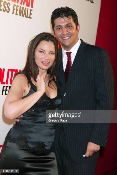Fran Drescher and boyfriend during Cosmopolitan's 40th Birthday Bash Arrivals and Inside at Skylight Studio in New York City New York United States