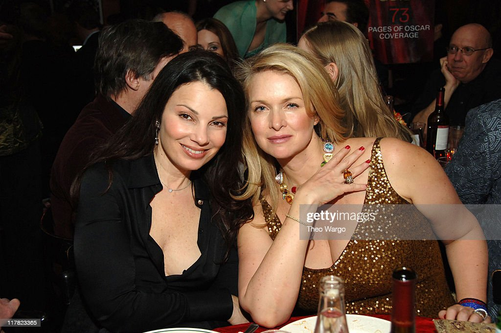 <a gi-track='captionPersonalityLinkClicked' href=/galleries/search?phrase=Fran+Drescher&family=editorial&specificpeople=201602 ng-click='$event.stopPropagation()'>Fran Drescher</a> and <a gi-track='captionPersonalityLinkClicked' href=/galleries/search?phrase=Donna+Dixon&family=editorial&specificpeople=213651 ng-click='$event.stopPropagation()'>Donna Dixon</a> during The 78th Annual Academy Awards - Entertainment Weekly New York Viewing Party at Elaine's in New York City, New York, United States.