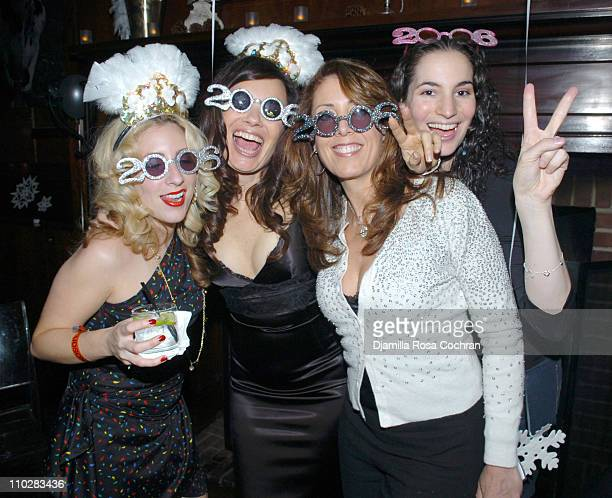 Fran Drescher and guests during New Year's 2006 in New York City Carson Daly's New Year's Eve Party at Hudson Bar in New York City New York United...