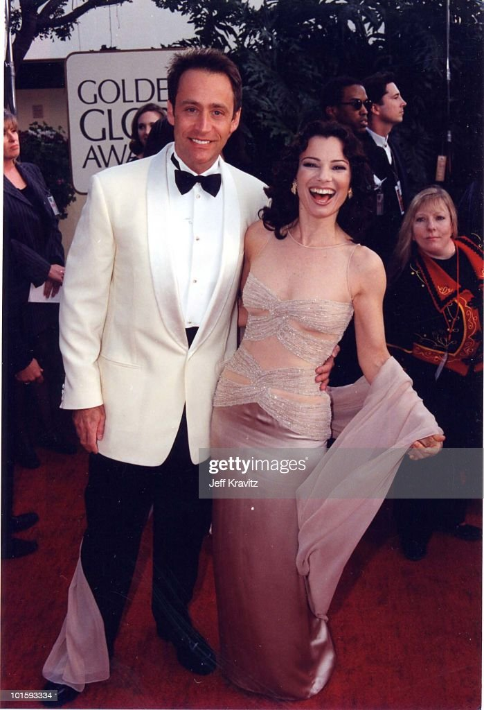 Fran Drescher (R) and husband Peter Marc Jacobson