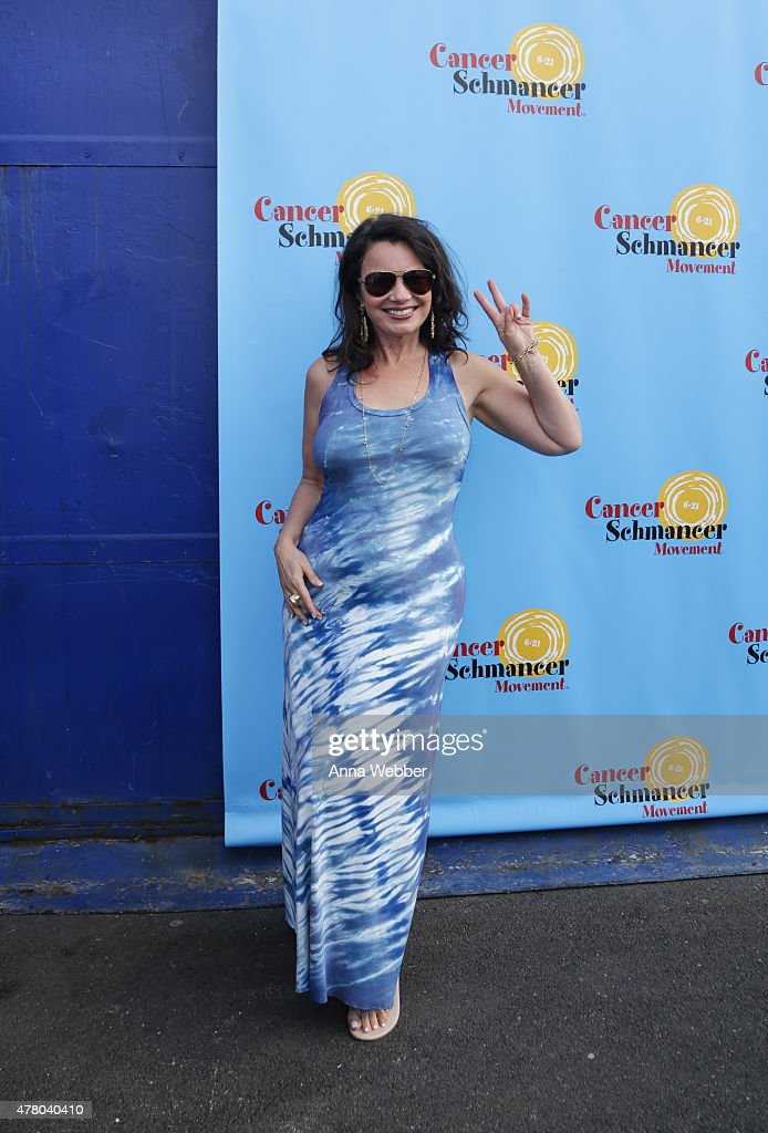 <a gi-track='captionPersonalityLinkClicked' href=/galleries/search?phrase=Fran+Drescher&family=editorial&specificpeople=201602 ng-click='$event.stopPropagation()'>Fran Drescher</a> arrives to <a gi-track='captionPersonalityLinkClicked' href=/galleries/search?phrase=Fran+Drescher&family=editorial&specificpeople=201602 ng-click='$event.stopPropagation()'>Fran Drescher</a> And Friends 2015 NYC Gay Pride Kick Off And Father's Day Celebration at Pier 40 on June 21, 2015 in New York City.
