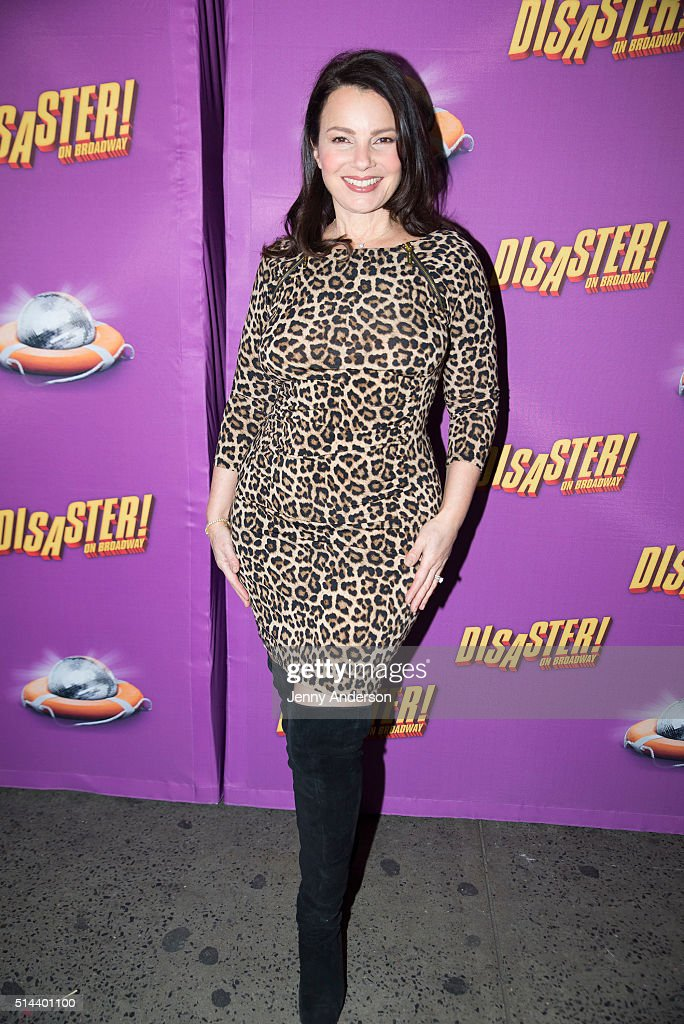 <a gi-track='captionPersonalityLinkClicked' href=/galleries/search?phrase=Fran+Drescher&family=editorial&specificpeople=201602 ng-click='$event.stopPropagation()'>Fran Drescher</a> attends 'Disaster!' Broadway opening night at Nederlander Theatre on March 8, 2016 in New York City.