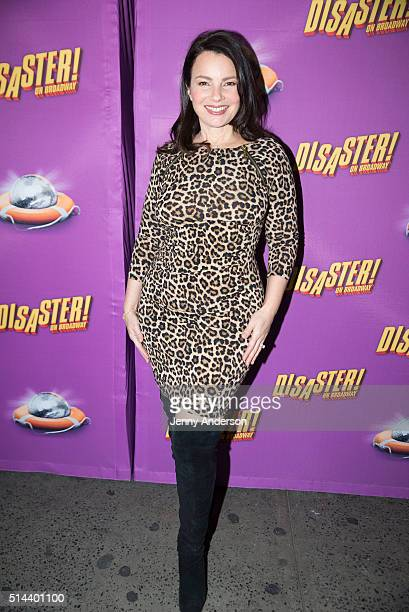Fran Drescher attends 'Disaster' Broadway opening night at Nederlander Theatre on March 8 2016 in New York City