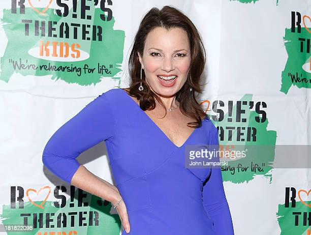 Fran Drescher attends Rosie's Theater Kids 10th Anniversary Gala at The New York Marriott Marquis on September 25 2013 in New York City