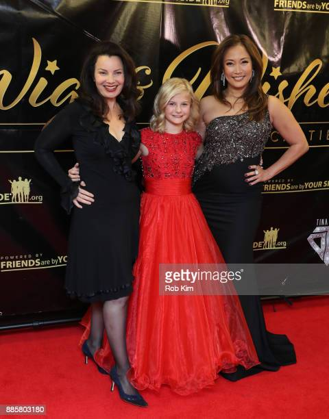 Fran Drescher Darci Lynne and Carrie Ann Inaba attend the 2017 One Night With The Stars Benefit at The Theater at Madison Square Garden on December 4...