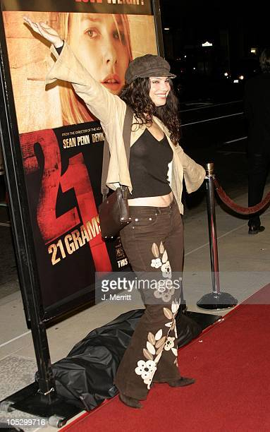 Fran Drescher during '21 Grams' Los Angeles Premiere at Academy Of Motion Pictures in Beverly Hills California United States