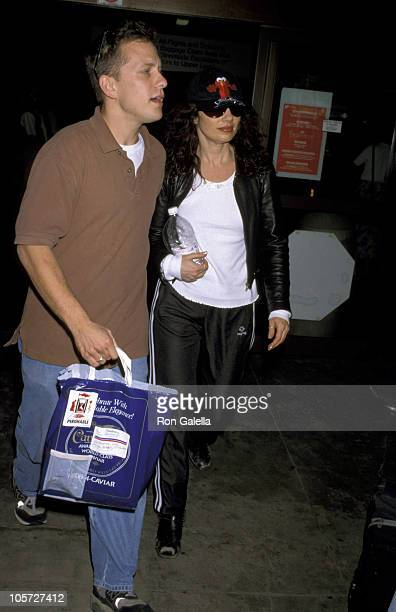Fran Drescher during Fran Drescher Arrives at LAX from New York City October 1 1998 at Los Angeles International Airport in Los Angeles California...