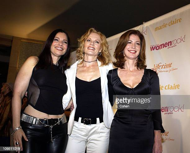 Fran Drescher Marg Helgenberger and Dana Delany arrive at 'Women Rock Girls and Guitars' airing on the Lifetime Television Network October 25th 2002...