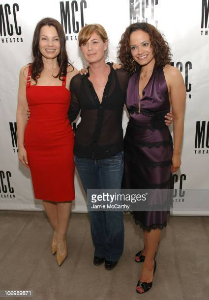 Fran Drescher Maura Tierney and Judy Reyes during Some Girls Opening Night Celebration at Robert Miller Gallery in New York City New York United...