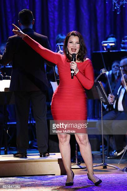 Fran Drescher performing in The American Pops Orchestra '75 Years of Streisand' at the George Washington University Lisner Auditorium on January 13...