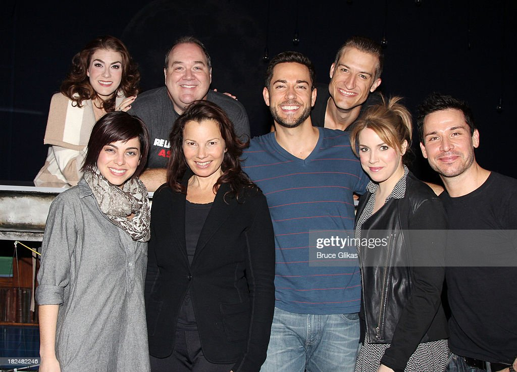 <a gi-track='captionPersonalityLinkClicked' href=/galleries/search?phrase=Fran+Drescher&family=editorial&specificpeople=201602 ng-click='$event.stopPropagation()'>Fran Drescher</a> poses with the cast backstage at 'First Date' on Broadway at The Lyceum Theater on September 29, 2013 in New York City.