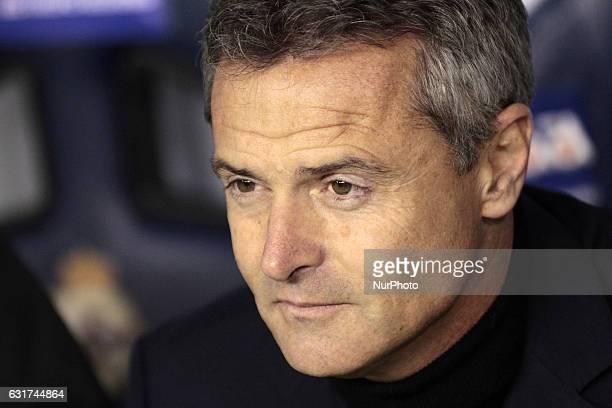 Fran Escribá coach of Villareal Club de Futbol during the spanish league La Liga Santander match between Real Club Deportivo de La Coruña vs...