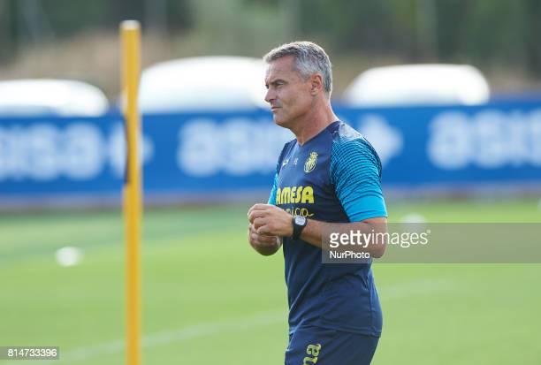 Fran Escriba head coach of Villarreal during the first week of Villarreal CF training session at Ciudad Deportiva of Miralcamp July 14 in Vilareal...