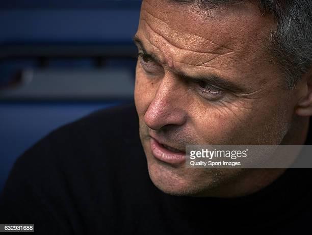 Fran Escriba Manager of Villarreal looks on prior the La Liga match between Villarreal CF and Granada CF at Estadio de la Ceramica on January 28 2017...