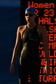 Fran Halsall of Great Britain competes in the Women's 50m Freestyle Final during the 13th FINA World Championships at the Stadio del Nuoto on August...