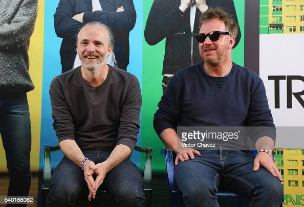 Fran Healy and Andy Dunlop of british band Travis attend a press conference at Universal Music on June 14 2016 in Mexico City Mexico