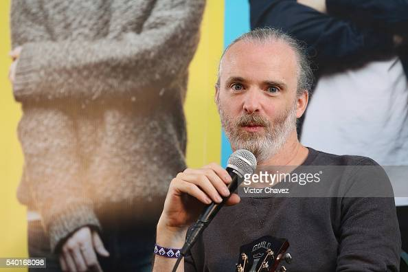 Fran Healy of british band Travis attends a press conference at Universal Music on June 14 2016 in Mexico City Mexico