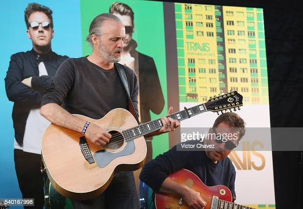 Fran Healy of british band Travis performs a showcase at Universal Music on June 14 2016 in Mexico City Mexico