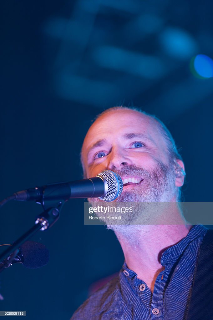 Fran Healy of Scottish rock band Travis performs live on stage at O2 ABC Glasgow on May 6, 2016 in Glasgow, Scotland.