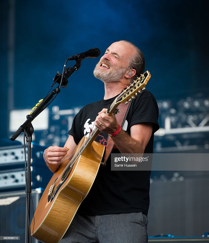 Fran Healy of Travis performs at V Festival at Hylands Park on August 21 2016 in Chelmsford England