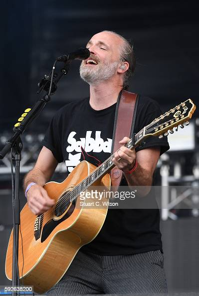 Fran Healy of 'Travis' performs during the V Festival at Hylands Park on August 21 2016 in Chelmsford England