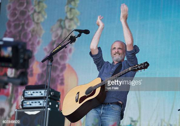 Fran Healy of Travis performs on stage with Fran Healy and Travis at BBC R2 Live at Hyde Park on September 11 2016 in London England