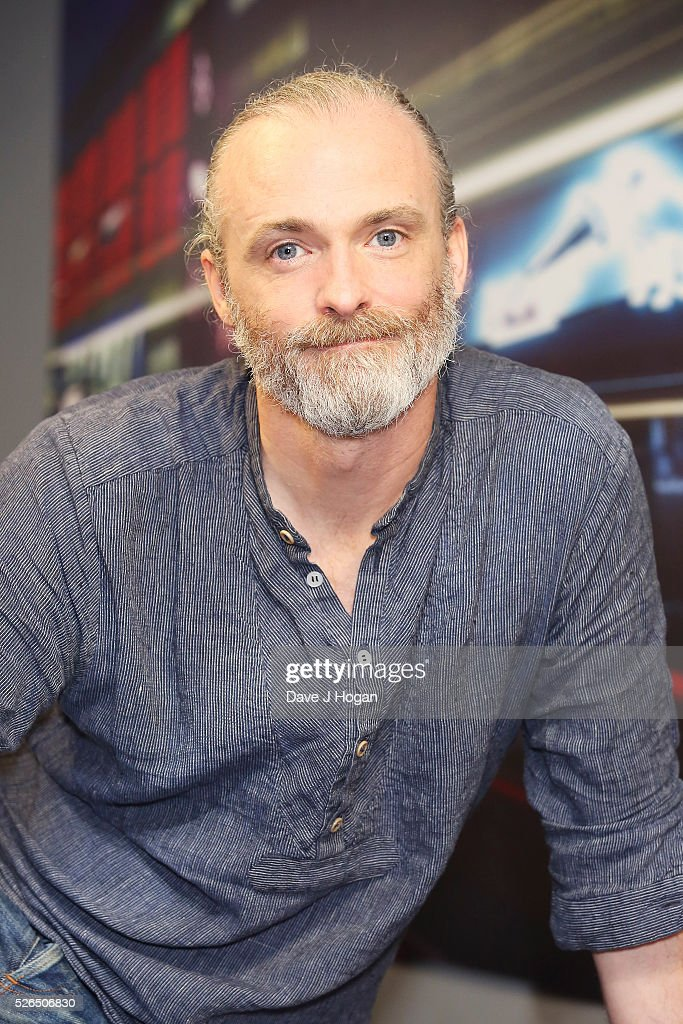 Fran Healy of Travis poses for a photo after performing songs from the new album 'Everything At Once' at HMV Oxford Street on April 30, 2016 in London, England.