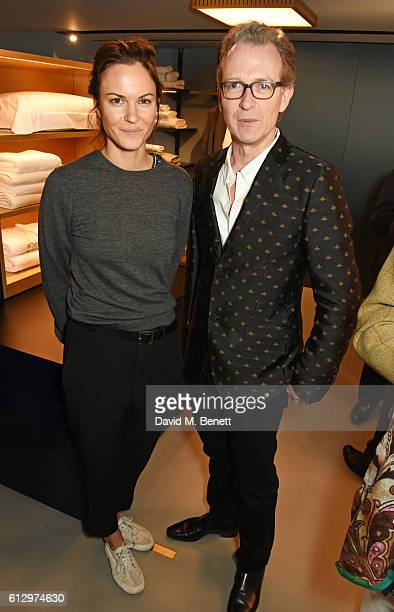 Fran Hickman and Ashley Hicks attend the Frette London store launch on October 6 2016 in London England